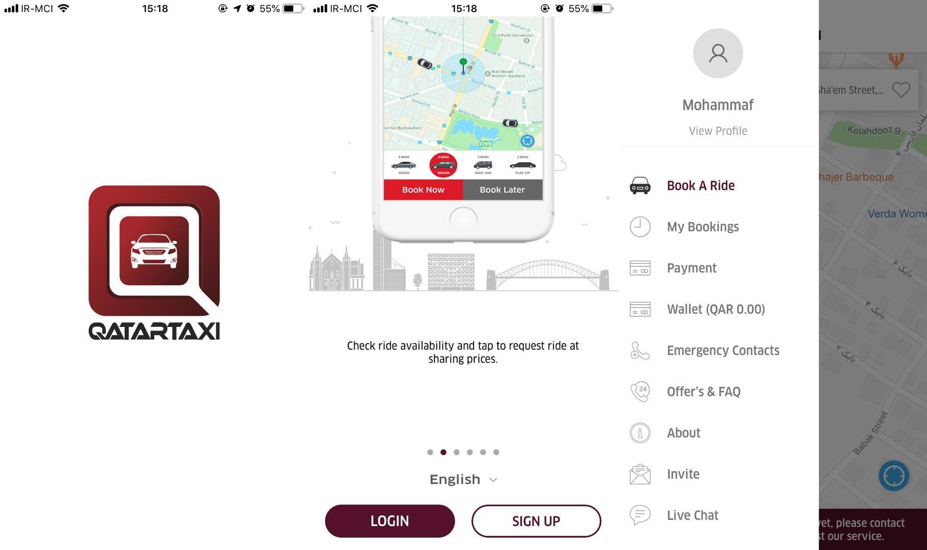 طراحی اپلیکیشن تاکسی آنلاین