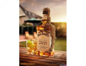 تبلیغ نوشیدنی , الهام گرفته شده از قطرات عسل در جذب زنبور