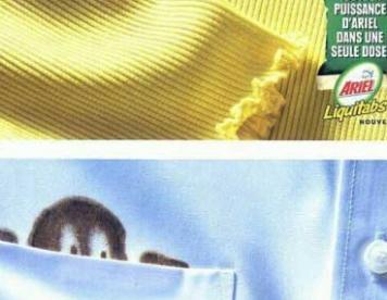 تبلیغات خلاق : پودر لکه بر لباس