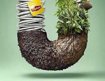 تبلیغات خلاق : تبلیغ جالب چای کیسهای لیپتون