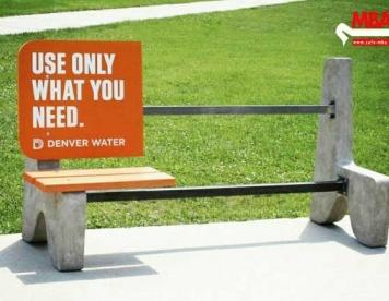 تبلیغات خلاق : فقط به اندازه نیاز مصرف کن , آب در خطر است