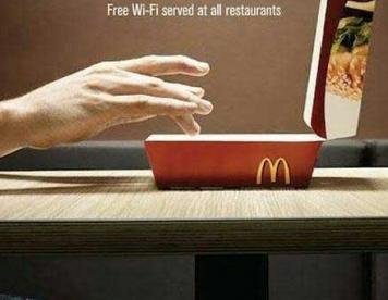 تبلیغات خلاق : اینترنت رایگان در مک دونالد