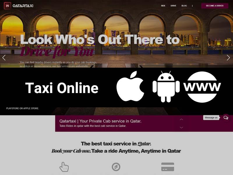 طراحی اپلیکیشن قطر تاکسی